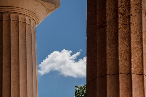 Temple, Doric Columns, Classical Order, Cemetery