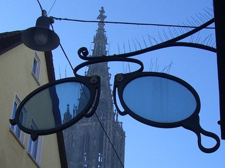 Ulm Cathedral, Through The Lens, Blue, Sky, Building