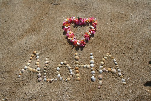 Aloha, Sand, Hawaii, Beach, Tropical, Vacation, Summer