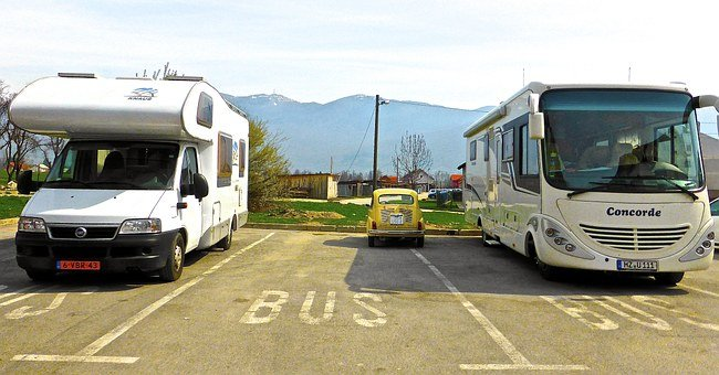 Car, Bus, Van, Little, Big, Size, Relative, Vehicles
