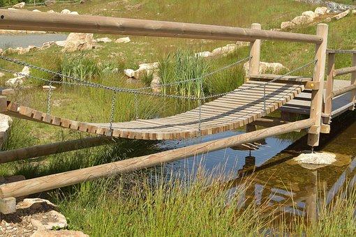 Suspension Bridge, Mountains, Braunlage, Worm Mountain