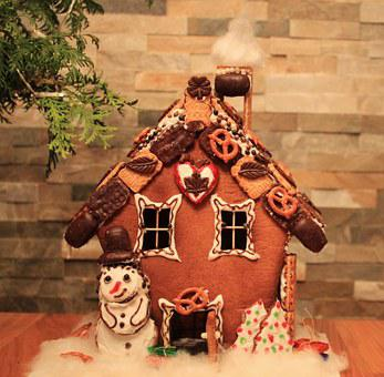 Knusperhaus, Witch's House, Gingerbread House, Advent