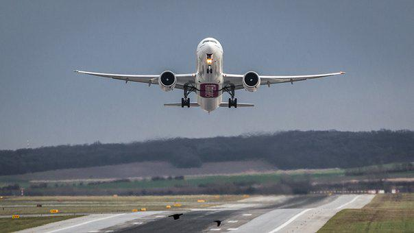 Aircraft, Airport, Departure, Start, Fly, Take Off