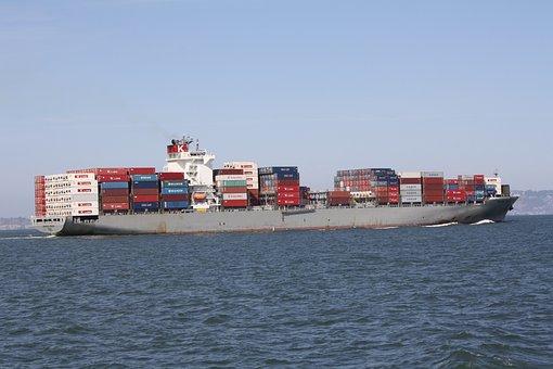 Cargo Ship, San Francisco, Bay, Cargo, Ship