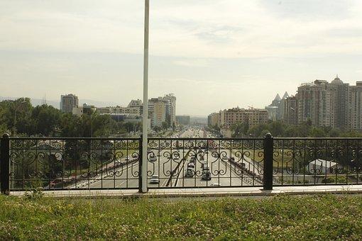 Almaty, Bridge, Al-farabi Kazakh National University