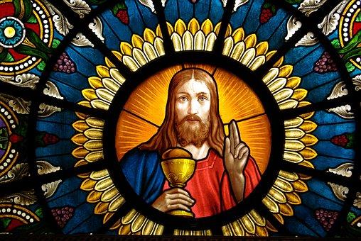 Altar Window, Delsbo, Church, Jesus