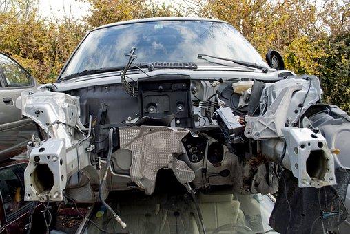 Car, Wreck, Breakage, Demolition, Slammer