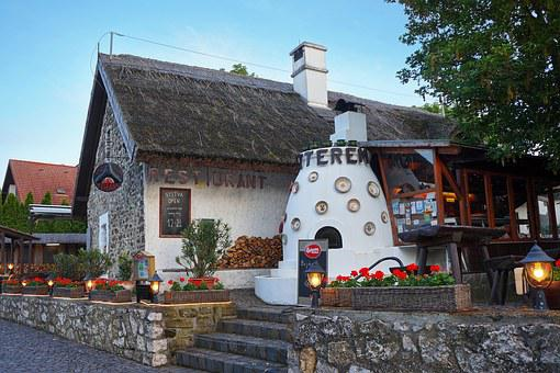 Tihany, Fire Garden Restaurant, Hungary