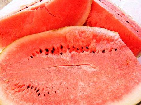 Cucurbitaceae, Flesh, Half, Red, Slice, Slices, Sugar