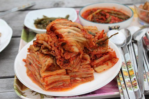 Countryside Dining Table, Kimchi, Food, Cooking