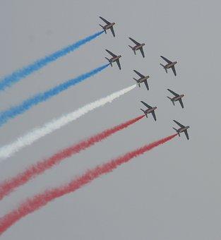 Aircraft, Patrol, France, Alphajet, Sky, Aerobatics