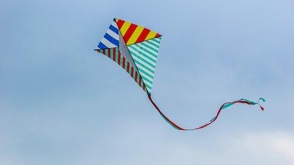 Kite, Fly, Wind, Fun