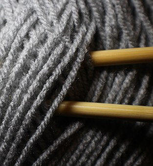 Needle, Knit, Hand Labor, Hobby, Wool, Grey