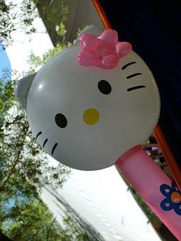 Hello Kitty, Balloon, Kawai, Japan, Pink