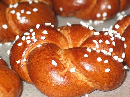 Laugenbrötchen, Pretzels, Roll, Baked Goods, Bavarian