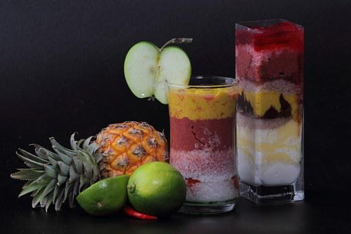 Cocktail, Mix, Fruit, Drink, Smoothie, Apple, Pineapple