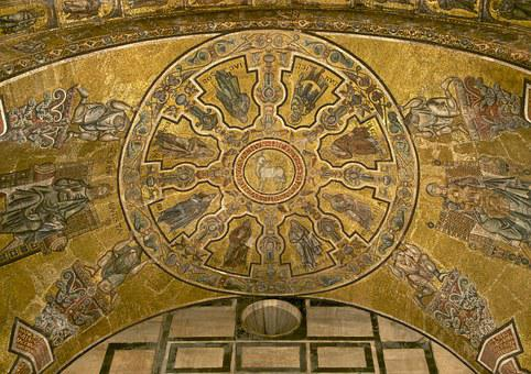 Agnus Dei Prophets, Baptistery, Florence, Mosaic, Vault