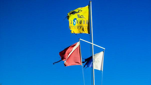 Flags, Navigation Flags, Worn Out, Waving