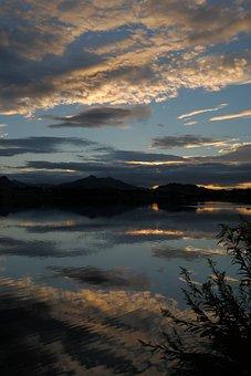 Lake, Reflections, Mountain Panorama, Panorama