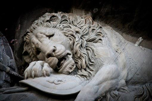 Sadness Of Lions, Lucerne, Switzerland, Sculpture