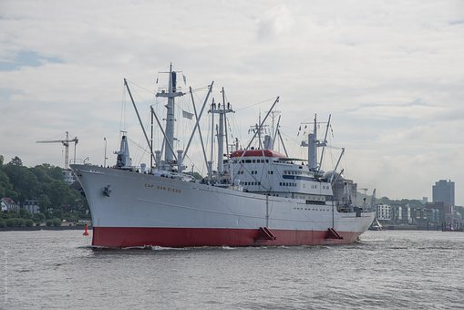 Hamburg, Museum Ship, Germany, Port, Cap, San Diego