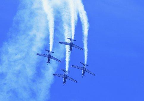 Silver Falcon Aerobatic Team, Aircraft, Jet, Skill