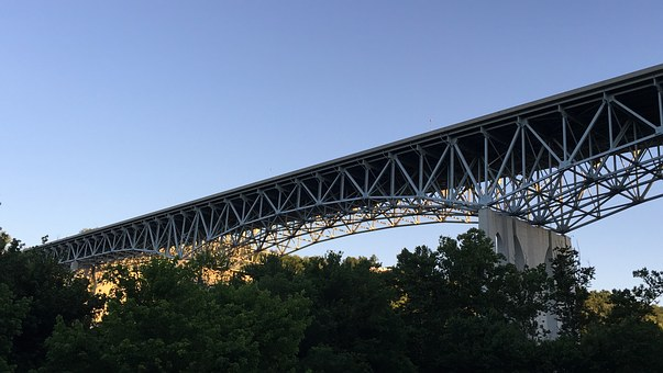 Bridge, Kentucky, River, Sky, Blue, Interstate, I-75