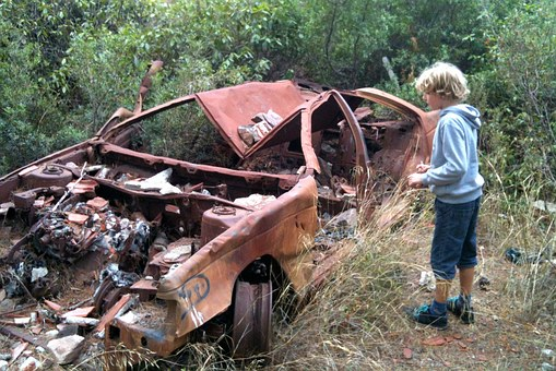 Car, Broken, Demolition, Wreck, Slammer, Breakage