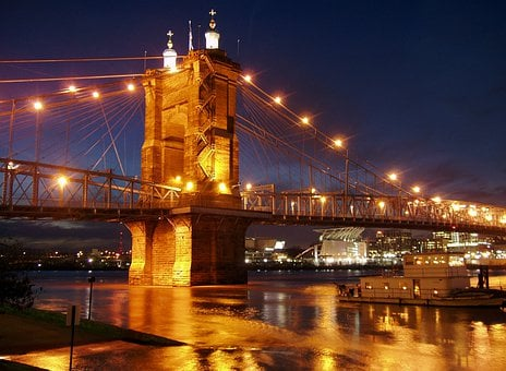 Suspension Bridge, Ohio River, Cincinnati, Ohio