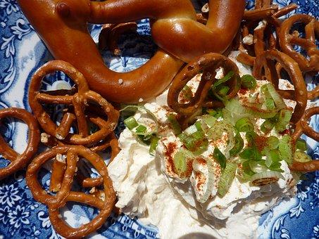 Pretzel, Cheese, Spundekäs, Food, Swabian Cuisine