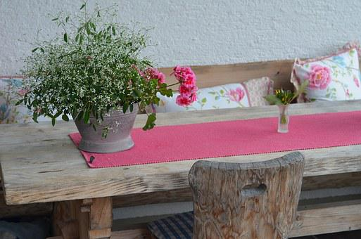 Pink, Flowers, Table, Ays Side, Decor