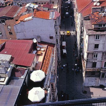 Istanbul, City, City from A Height, Roof, Top View