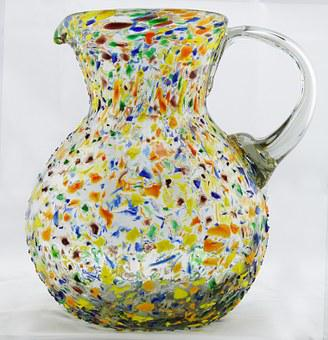 Vase, Pitcher, Glass, Glass Art, Colorful Glass