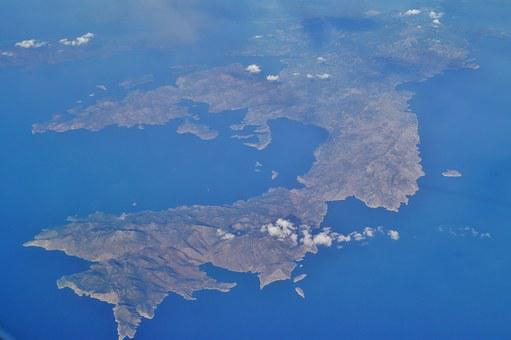 Sea, Island, Land, Flight, View From Airplane, View