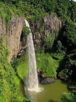 Bridal Veil Falls, New Zealand, Waterfall, Landmark