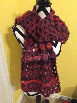 Scarf, Handmade, Winter, Wool, Craft, Decorative