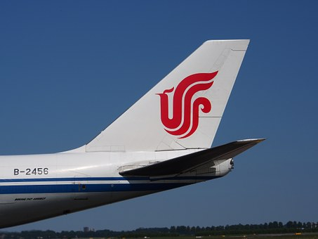 Boeing 747, Air China Cargo, Fin, Jumbo Jet, Aircraft