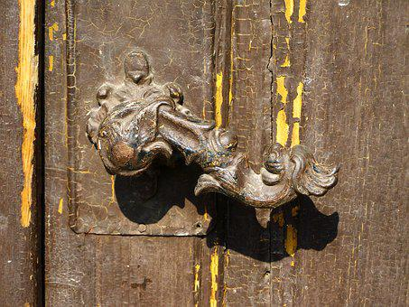 Old Doorknob, Antique, Tarnished