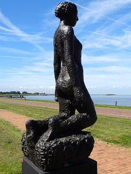 Ariadne, Lelystad, Sculpture, Statue, Figure, Memorial