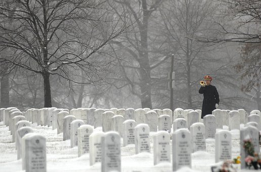 Arlington National Cemetery, Washington Dc, Bugler