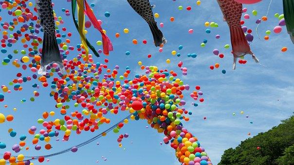 Balloon, Children's Day, Japan, Koinobori, Sky