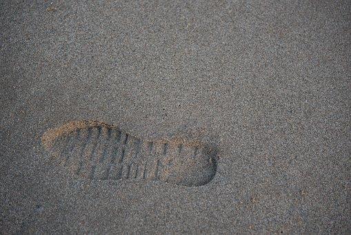 Footprint, Leg, Sand, Beach, Walk, Path, Shoe, Last