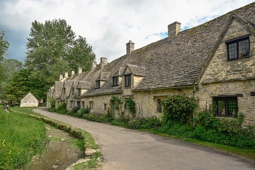 Bibury, Arlington Row, Rack Isle, Old Cottages