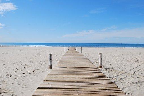 Beach, Beach Path, Sea, Montpellier, Carnon