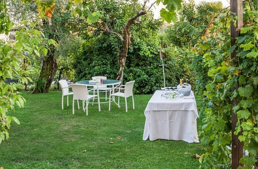Garden Party, Tables, Nature, Champagne, Party, Garden
