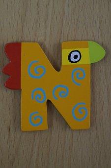 Letter, N, Abc, Colorful, Child, Children