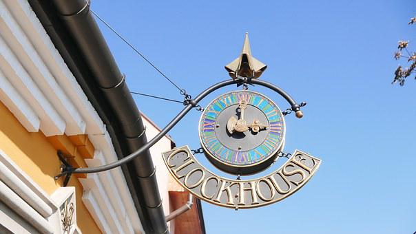 Szentendre, Clock House, Sign Board