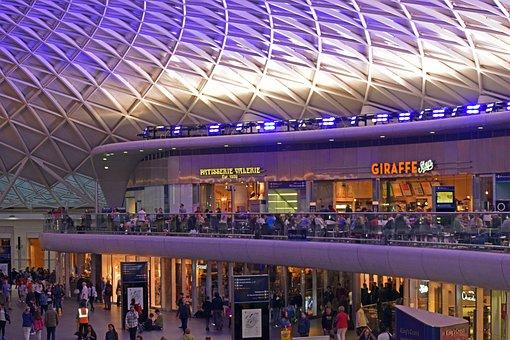 Kings Cross, Station, London, England, Train