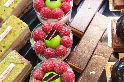 French, Pastries, France, Fruit, Raspberries, Chocolate