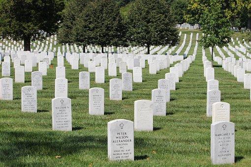 Arlington, Cemetery, Grave, Virginia, Washington, Grass